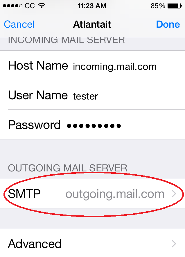 incoming mail server iphone change incoming and outgoing mail server port settings on 1034
